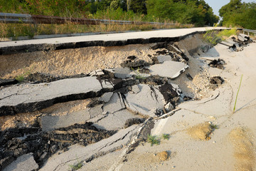 Road Landslide, Bulgaria