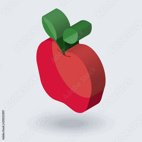 apple icon vector sign and symbol isolated on white background