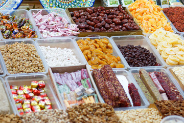 Famous turkish delights on the market a