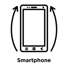 Smartphone icon vector sign and symbol isolated on white background, Smartphone logo concept