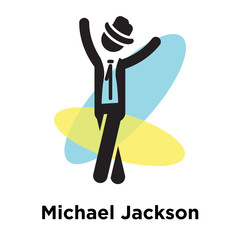 Michael Jackson icon vector sign and symbol isolated on white background, Michael Jackson logo concept