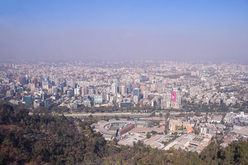 Santiago chile mountain view