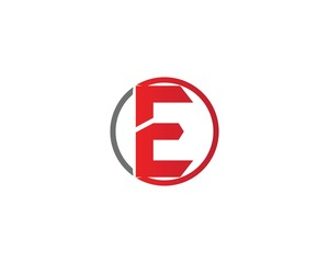 Letter E logo and symbols template icons app