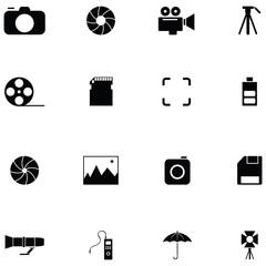 Photographic Equipment icon set