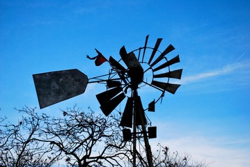 rusted windmill