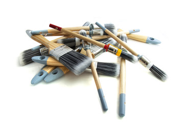 Pile of paint brushes