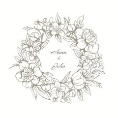 Floral frame, monogram