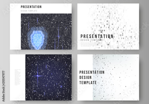 the minimalistic abstract vector layout of the presentation slides
