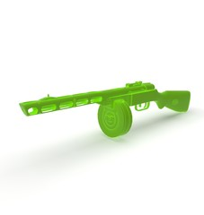 3d illustration of ppsh gun