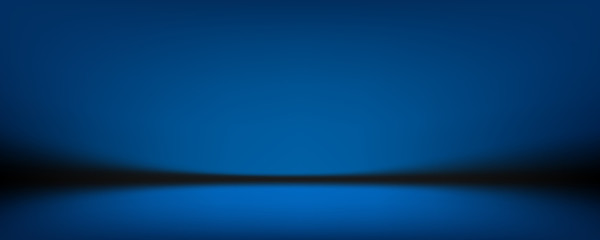 Fototapete - blue background, abstract wall studio room, can be used to present your product