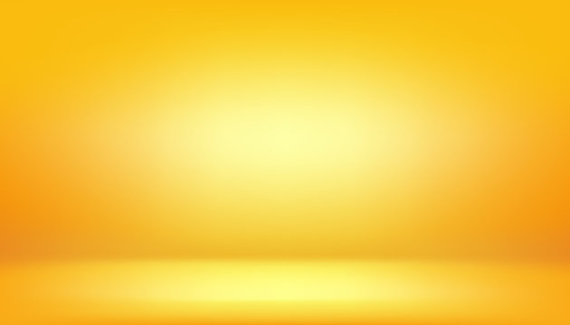 yellow background, abstract gradient studio and wall texture vector and illustration, can be used presented your product