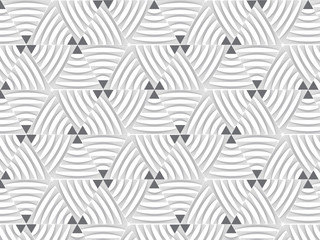 Modern stylish texture. Repeating geometric tiles from striped triangles. repeating linear petal