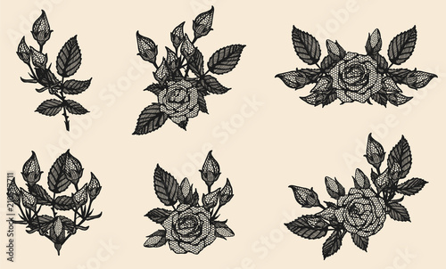 Line Drawing Of Rose Plant : Rose tattoo drawing xakdrawing by on deviantart