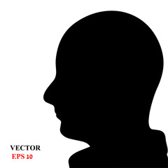 the profile of a male face. vector illustration