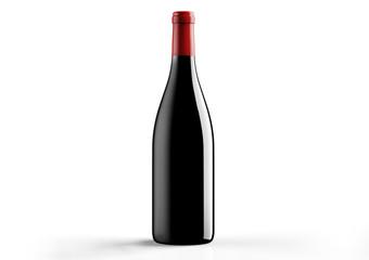 Borgognotta , bottle  a red wine on white background.