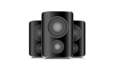 drei Lautsprecher