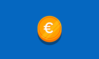 Vector illustration of Euro Coin