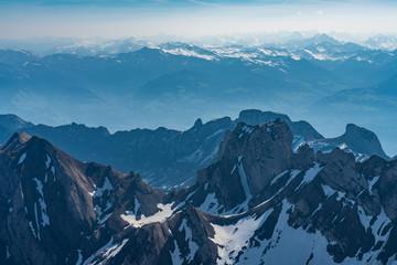 Santis. Swiss sky alps panorama
