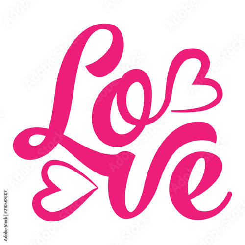 Love Hand Lettering Typography Text In Vector Eps 10