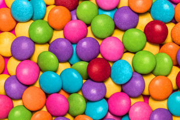 Close-up colourful candy background.