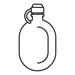 Metal water flask icon. Outline illustration of metal water flask vector icon for web design isolated on white background