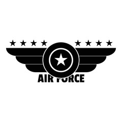 Air force logo. Simple illustration of air force vector logo for web design isolated on white background