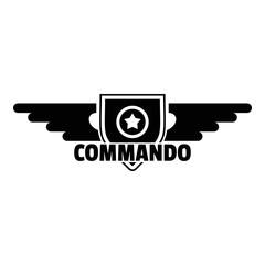 Commando star logo. Simple illustration of commando star vector logo for web design isolated on white background
