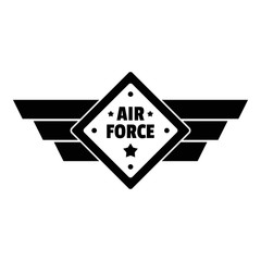 Air best force logo. Simple illustration of air best force vector logo for web design isolated on white background