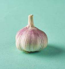 Food concept. Fresh raw garlic