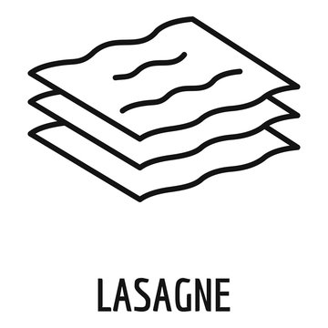 Lasagne icon. Outline lasagne vector icon for web design isolated on white background