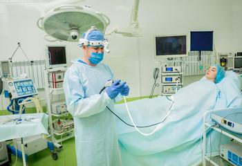 Endoscopic sinus surgery. Laser vaporization of nasal concha