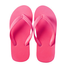 Flip flop beach sandals pink isolated on white background