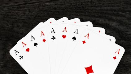 Fächer aus Spielkarten