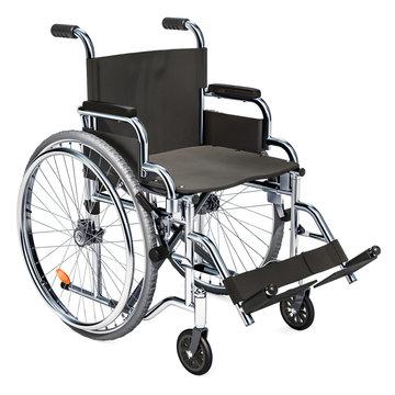 Empty wheelchair, 3D rendering