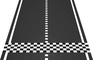 Finish line. vector illustration