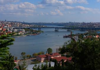 Foto op Plexiglas Historisch geb. Panorama of Istanbul Golden horn