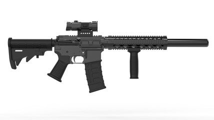 Modern army assault rifle - side view