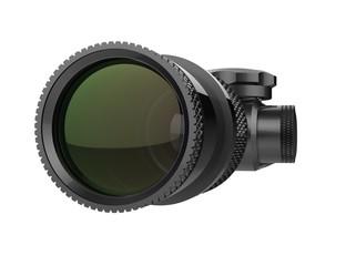 Modern sniper optical scope sight - closeup shot