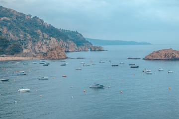 Spain Costa Brava holidays. Tossa de Mar city views.