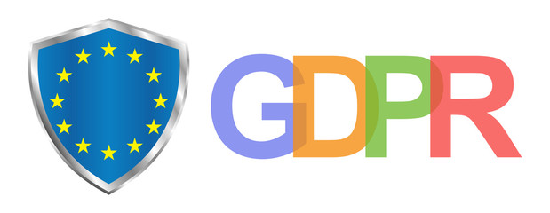 Gdpr general data protection regulation. Eu safeguard regulations and data encryption vector concept background