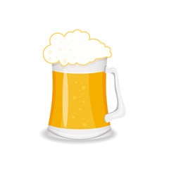 Glass of beer, vector isolated illustration on white background