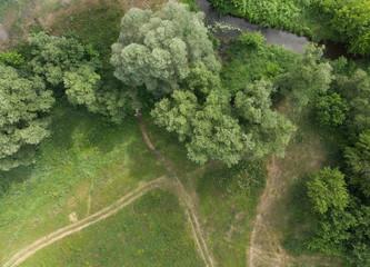 Landscape shot from a bird's eye view