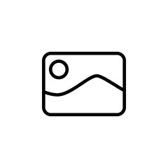 The icon of picture. Simple outline icon illustration, vector of picture for a website or mobile application