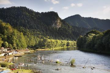 Fototapeta Grajcarek river in Szczawnica. Nowy Targ county. Lesser Poland voivodeship. Poland obraz