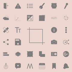 Crop icon. Detailed set of minimalistic icons. Premium quality graphic design sign. One of the collection icons for websites, web design, mobile app