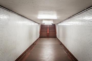 Tile lined hallway