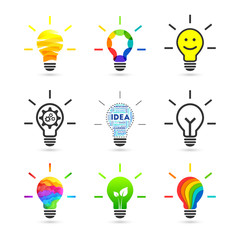 Light bulb set with various concept and design