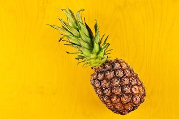 Ripe fresh pineapple close up