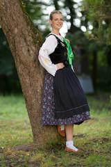 Slovak folk dancer