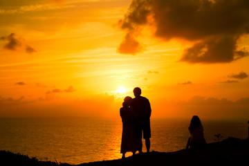 御神岬の夕焼け